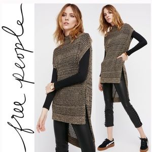 Free People Dusk To Dawn Cap Sleeve Sweater Tunic